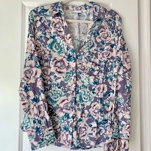 NY&CO Floral Madison Stretch Shirt